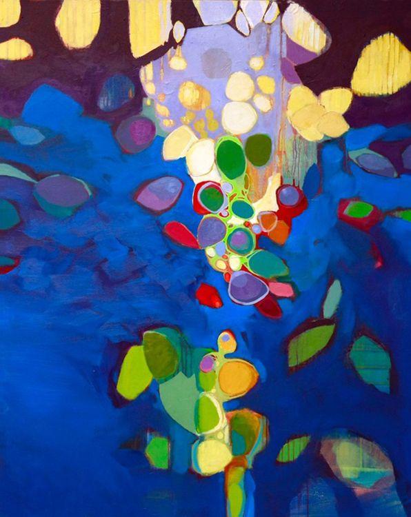 Mood Lighting by Robert Langford, acrylic on canvas, 60x48 inches, $5800. #abstractart #pippincontemporary #santafe #robertlangford