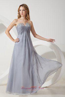 Shakiras formal attire Grey Chiffon Prom Dress