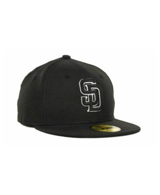 New Era Kids' San Diego Padres Mlb Black and White Fashion 59FIFTY Cap - Black 6 1/2