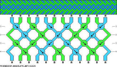 12 strings 4 rows 2 colors
