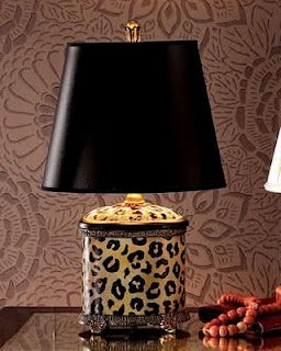 Cheetah print lamp. Plus feathers, please!