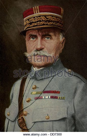 General Ferdinand Foch, led French armies in the Battle of the Marne in 1914 and the Somme campaign in 1916. After - Stock Image