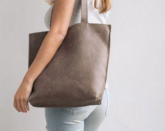 Tote de cuero, bolsa de regalo personalizado, bolso de cuero marrón, bolsa de ordenador portátil, bolso de totalizador de la cremallera, bolso de cuero de las mujeres, bandolera, cuero hecho a mano