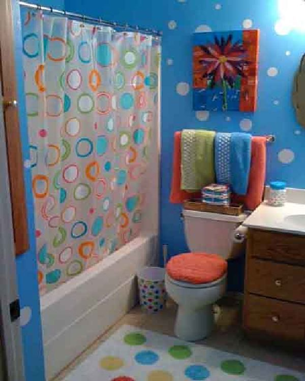 Find this Pin and more on Decor ideas. blue and colorful girl bathroom ...