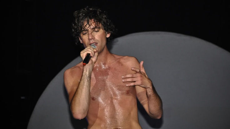 Mika shirtless