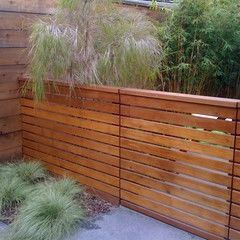 horizontal fence (short for privacy of covered patio from capstan i.e. west/street side)
