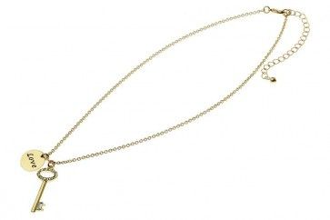 Gold Metal Diamante Key Pendant   Don't Forget your discount code FB10 to get 10% off your 1st order