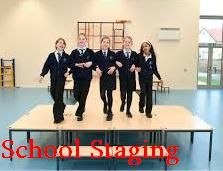 All type staging systems and solutions for all terrain schools staging, temporary, event staging, mobile staging, outdoor, indoor staging, corporate, concert, church staging.