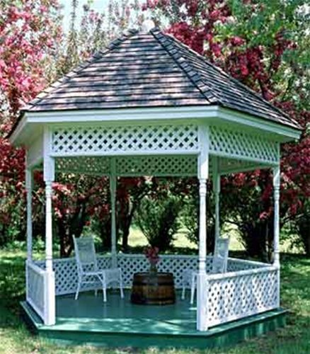 Garden Gazebo Plan This Garden Gazebo Plan will create a fairy-tale like setting in your own yard! Just imagine relaxing in your gazebo watching your flowers blossom! The Garden Gazebo Plan will give