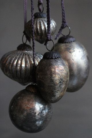 The best glass ornaments are these heavy, vintage-inpired ones.