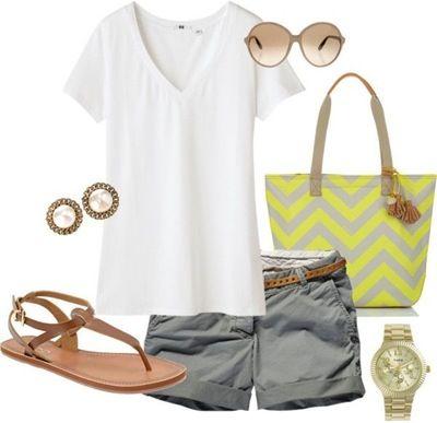 Grey Chino Shorts (Slightly Longer!)