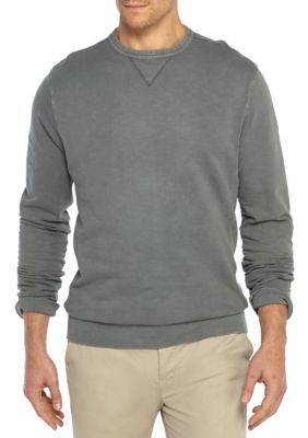Crown & Ivy™ Men's Big & Tall French Terry Crew Pullover - Med Grey Heather - 3Xlt