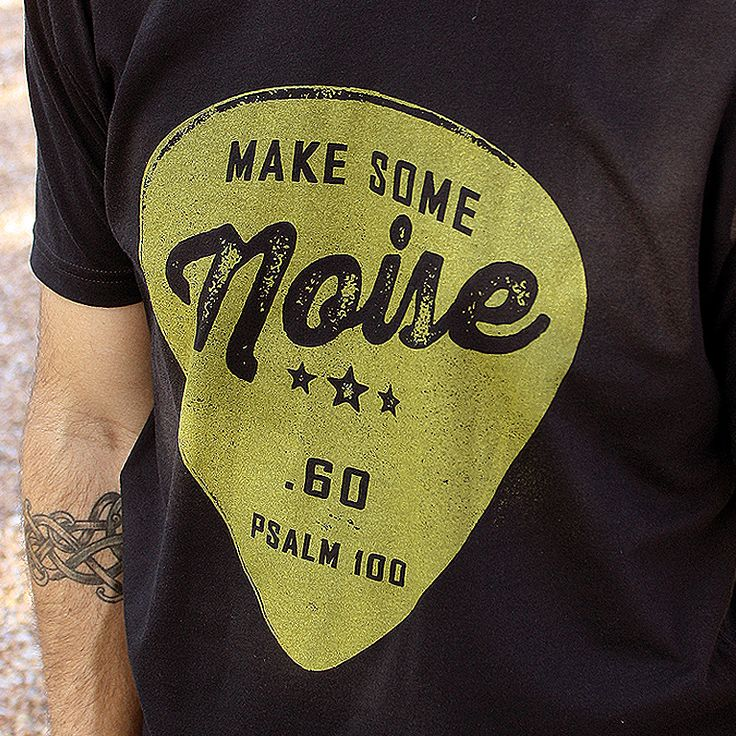 This Christian shirt for men is perfect for the praise and worship music lover or worship team musician ~ Inspired by Psalm 100, this shirt is designed uniquely for the Christian musician or worship leader, but is versatile for just about anyone ~ It is the perfect guitarist gift idea for him (or her).