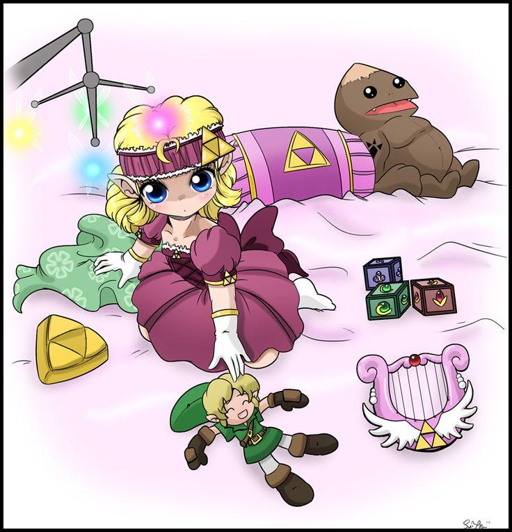 baby Zelda #goron #link #cute #loz #legend_of_zelda