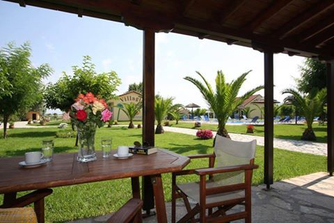 At the beautiful garden of Villagio Hotel Apartments & Studios