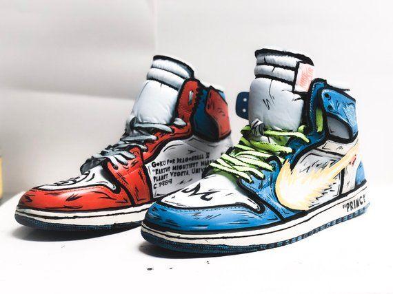 Stomping From Air Custom Sneaker 1 Jordan GroundShoes In Goku OkN8wX0nP