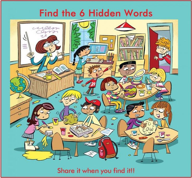 Find 6 hidden words in the picture 5                                                                                                                                                                                 More