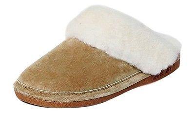 Old Friend Slippers Womens Sheepskin Fleece Scuff TPR Bottom 441169