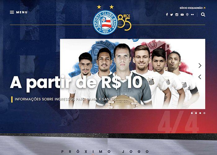Official website of Esporte Clube Bahia soccer team of Salvador, Bahia Brazil.