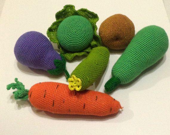 Вязание крючком сетка с витаминами фрукты от ChildhoodRainbow