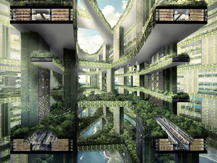 Image 2 of 10 from gallery of Exhibition: Garden City Mega City: WOHA Rethinks Cities for the Age of Global Warming. Permeable Lattice City; Image Credit: WOHA