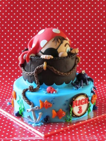 de leukste taarten - birthday - birthday cake - pirate cake