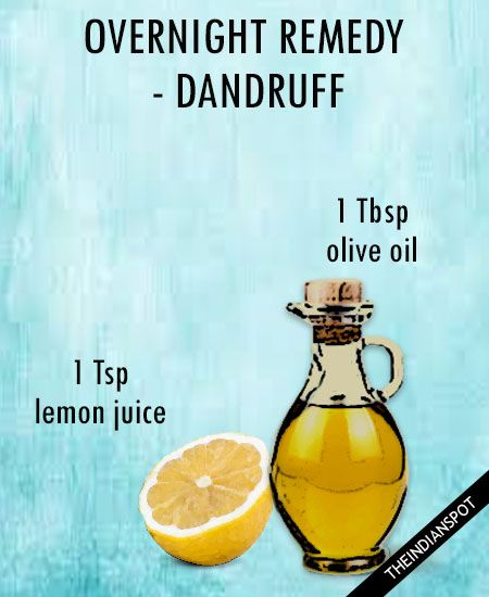 Overnight Dandruff Remedy: Try an overnight treatment for long-lasting relief from dandruff or dry, itchy scalp. Mix 1 tbsp of olive oil with 1 tsp of lime juice and then massage the mixture into the scalp before bedtime. Wrap your hair with a shower cap and in the morning, shampoo using a mild shampoo. …