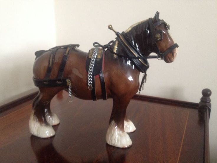 Beswick Horse Large Shire Horse With Tack Collectable