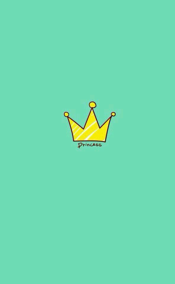 Princess w/ crown Aqua Wallpaper