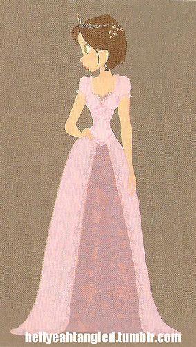 """Tangled Rapunzel Short Hair   From """"Art Of Tangled"""" Book. I love how her short hair looks here"""