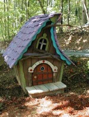 whimsical fairy garden . A LOT OF LOVELY FAIRY HOUSES Little Fairy hut by Ирина Дубровская