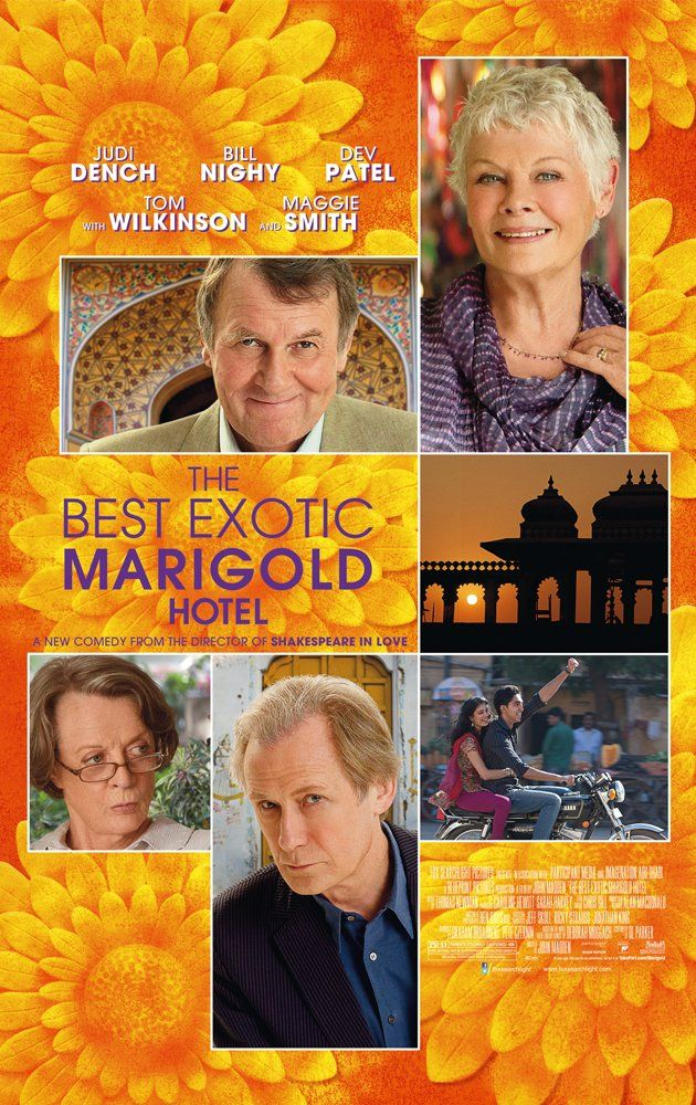 The Best Exotic Marigold Hotel (2011) - Judi Dench shines in this comedy of aging.  Very funny!