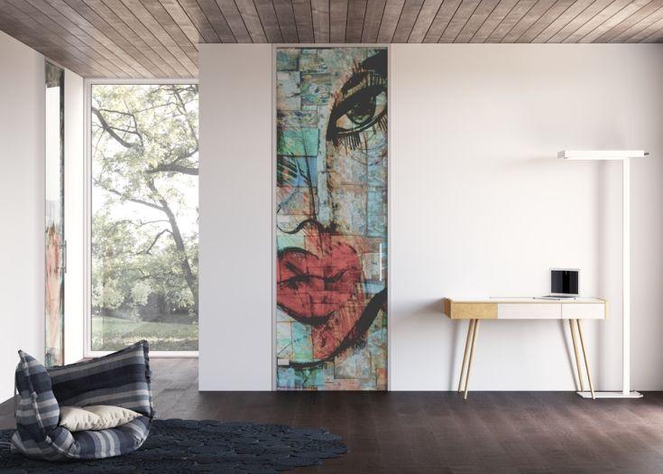 """Porta in vetro Collezione ARTWORKS """"Lips"""" / Glass door Collection ARTWORKS """"Lips"""" di #MRartdesign"""
