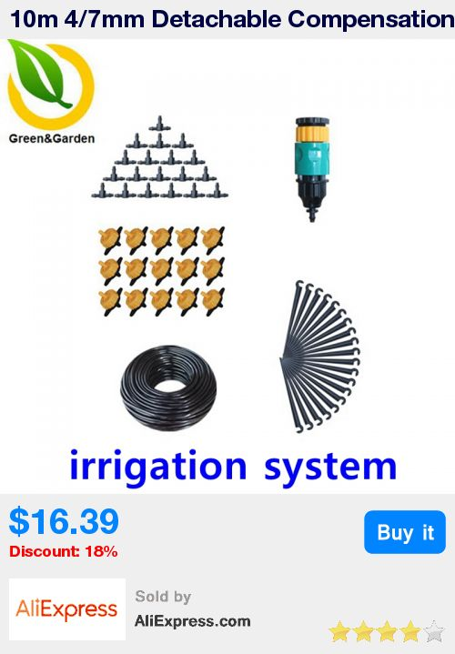 10m 4/7mm Detachable Compensation Pressure Drops Drip Irrigation System Micro Irrigation Systems Garden Sprinkler Watering Kits * Pub Date: 06:23 Oct 23 2017