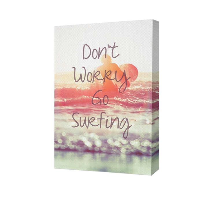 Pare de se preocupar e vai surfar!! #quadro #surf #lifestyle #happy http://www.minhacasarecriar.com.br/painel-go-surfing.html