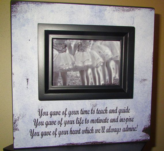 Coach Sign Picture Frame Dance Teacher gift by WordsofWisdomNH