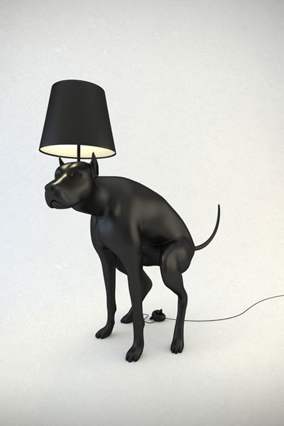 """""""Maybe if you had gotten your lazy butt off the couch and taken the dog lamp for a walk, it wouldn't have pooped on the floor!"""": Lights, Poop Lamps, Funny, Floors Lamps, Dogs Poop, Products, Poop Dogs, Boys Lamps, Dogs Lamps"""