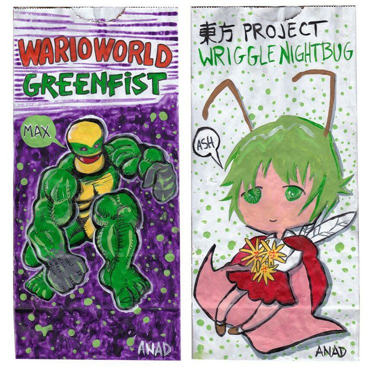 20130414#Sketch #lunchbags for my #sons.#videogames #art #drawing #anad #school #paint #markers #doodles #kids #bag#TouhouProject #WriggleNightbug #cartoon #anime #japan #manga #sketch #sketchlunchbag#MarioBros #WarioWorld #Greenfist#VideoGames #cartoon #MacOS #PC #iOS #Android #app #XBox #Nintendo #WiiU #GameCube  http://en.m.wikipedia.org/wiki/Touhou_Project