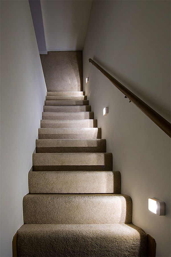 Lighting Basement Washroom Stairs: The ReadyBright Stair Light Will Power On Instantly During