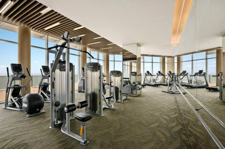 Fitness Center Kempinski Hotel Yixing Designed By Hba Interior Design Pinterest Mirror