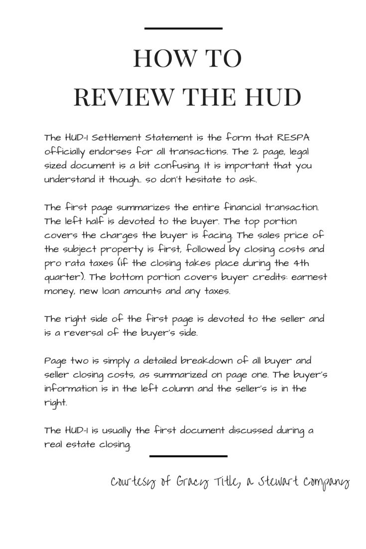 How To Review The Hud1 Settlement Statement #homebuying101 #raneebray Real  Estate