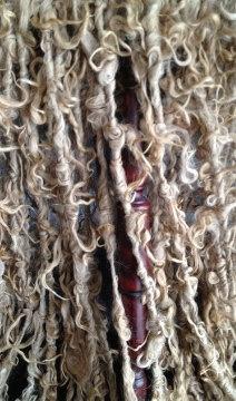 Suri Alpaca  Tailspun Art Yarn  Fawn  25 yds  55 by AlmaPark, $33.00