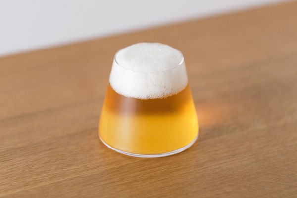 Handmade Beer Glass Crafted As A Visual Representation Of Japan's Mount Fuji - DesignTAXI.com