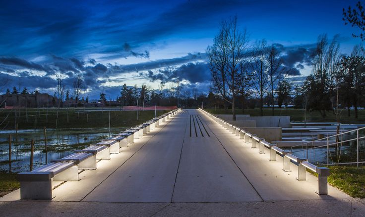 Exterior Pathway Conceal Light On Bench Landscape