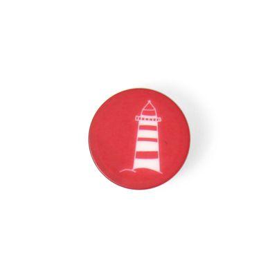 Bottone in plastica Faro 1 (11) - Poliestere - rosso
