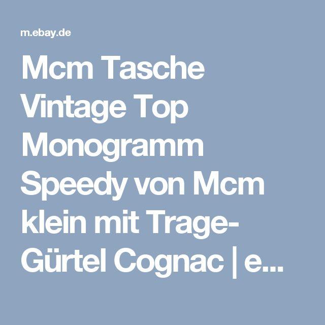 Mcm Tasche Vintage Top Monogramm Speedy von Mcm klein mit Trage- Gürtel Cognac   | eBay
