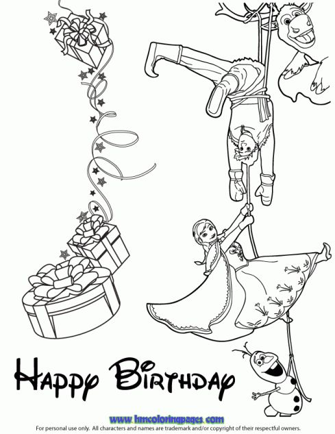 28 best Happy Birthday coloring pages images on Pinterest