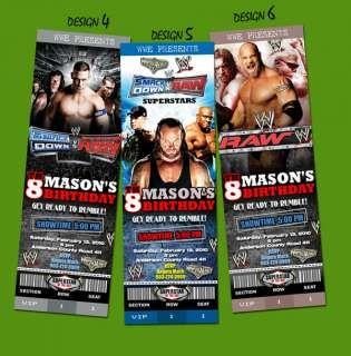 WWE TICKET BIRTHDAY PARTY INVITATION HARDY BATISTA