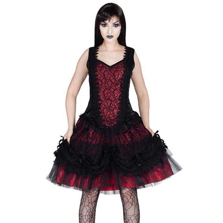 Sinister Cathern lolita mini jurk met sweetheart halslijn en strikjes