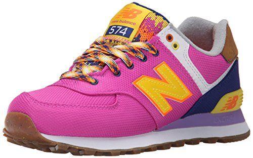 New Balance WL574V1, Damen Sneakers, Mehrfarbig (Pink/Blue), 42.5 EU (8.5 Damen UK) - http://on-line-kaufen.de/new-balance/42-5-eu-new-balance-damen-wl574v1-sneakers-3